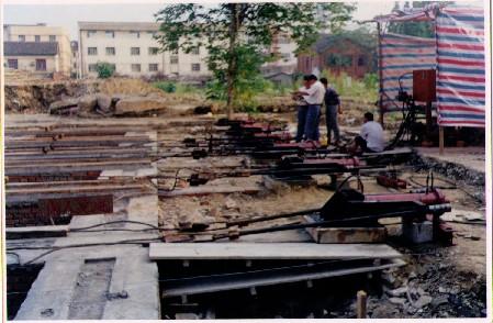 建筑物整体平移工程施工中